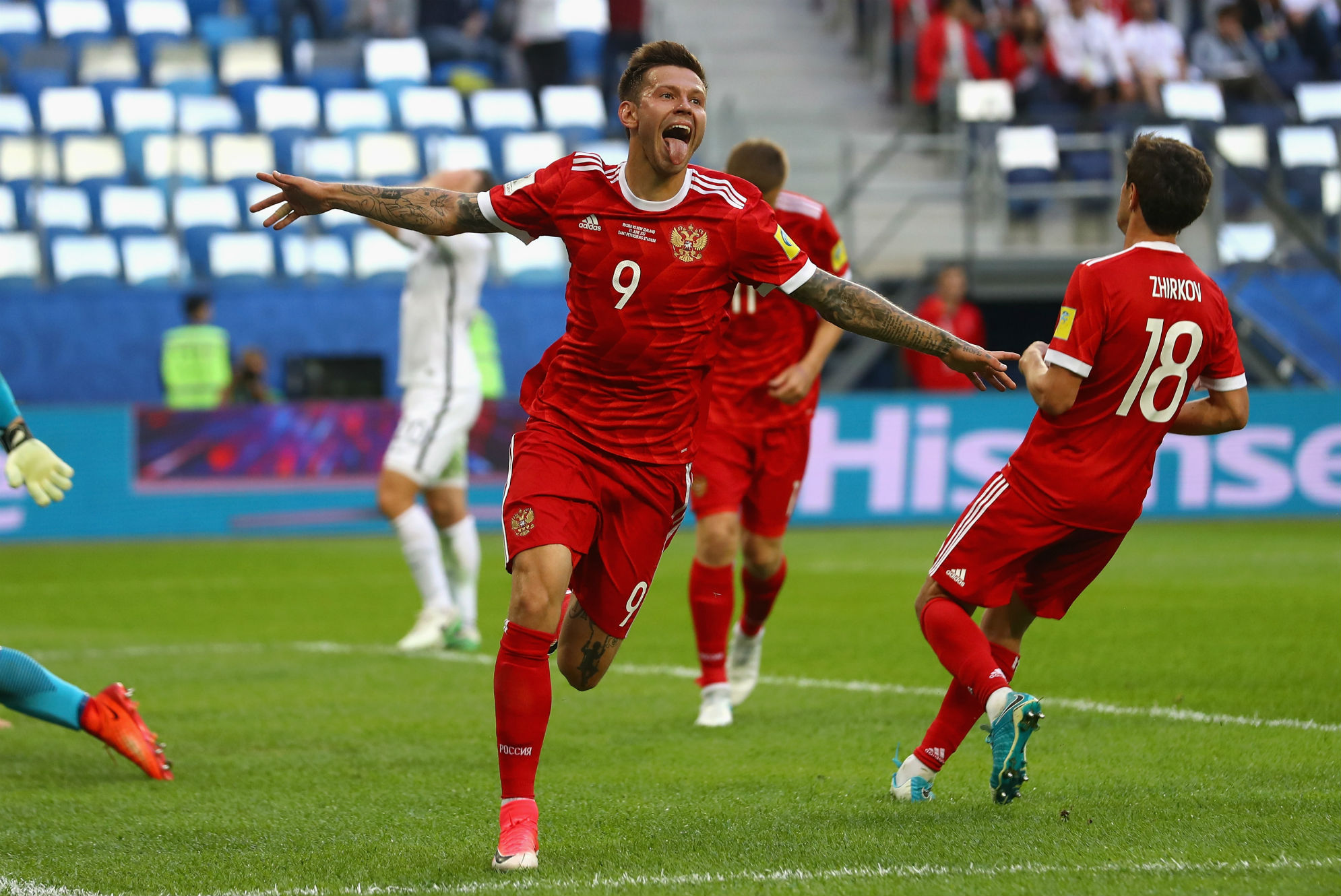 Fedor Smolov Russia New Zealand