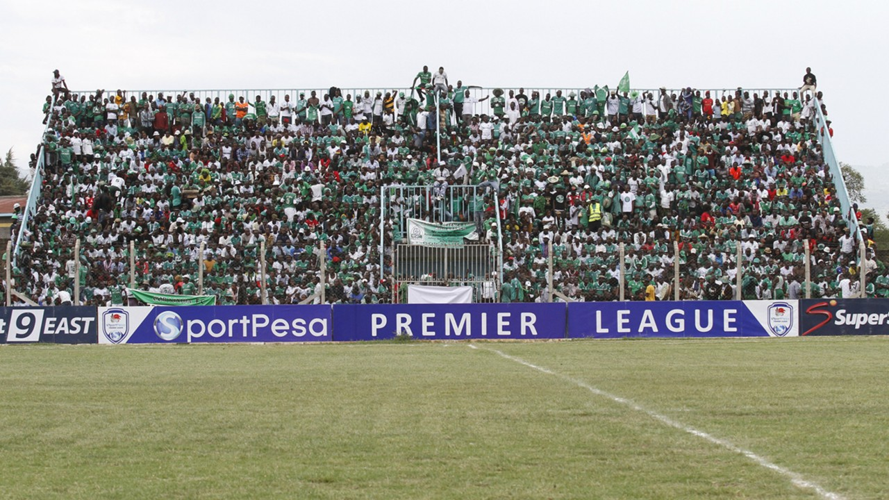 Gor Mahia fans at Afraha Stadium.