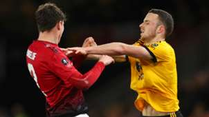 Diogo Jota Victor Lindelof Wolves Manchester United FA Cup 2019