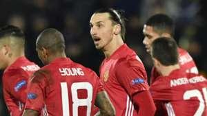 Zlatan Ibrahimovic Ashley Young Manchester United
