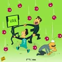 Cartoon: Spurs, VAR & Pep