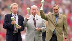 Denis Law Bobby Charlton George Best