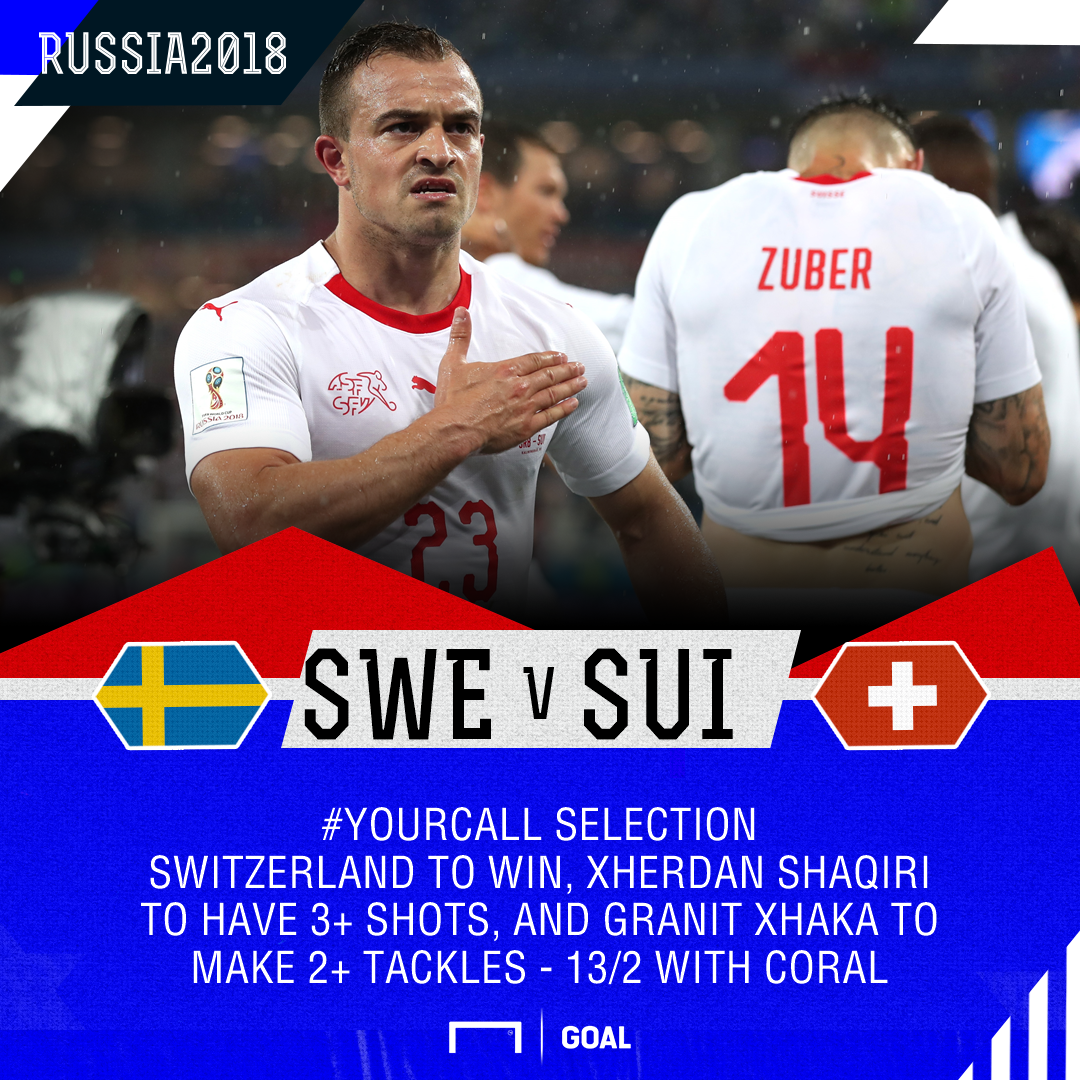 Sweden v Switzerland YourCall Coral selection