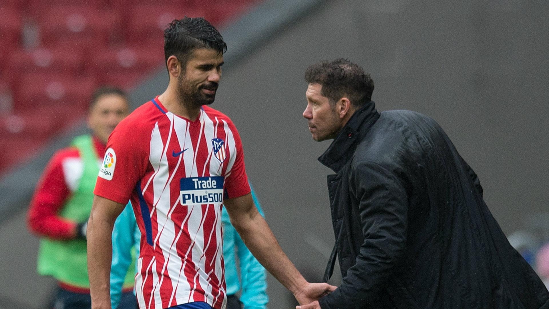 Diego Costa es baja con el Atlético de Madrid