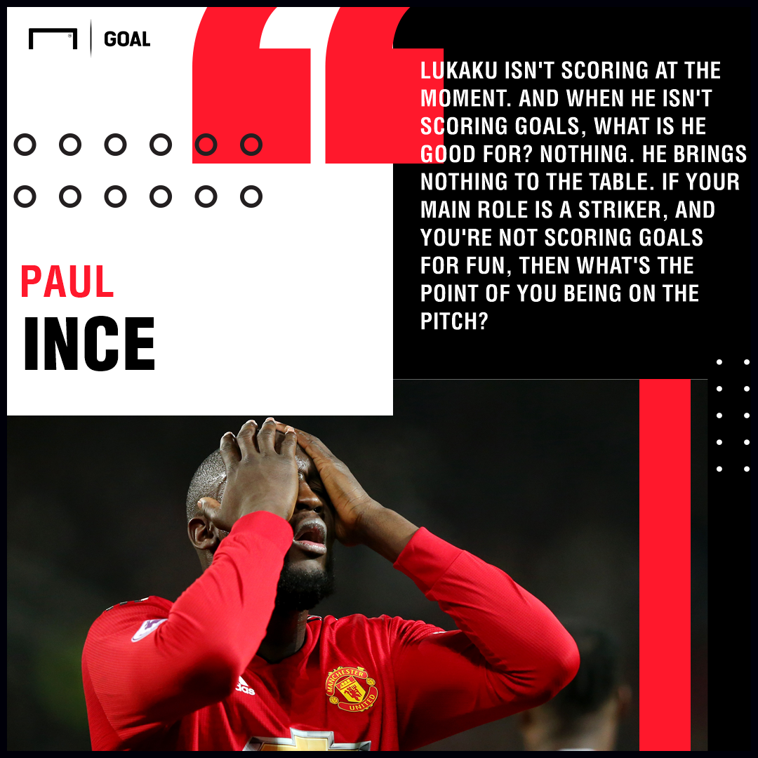 Romelu Lukaku brings nothing to the table Paul Ince