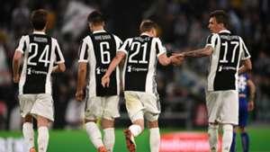 Juventus celebrating Sampdoria Serie A