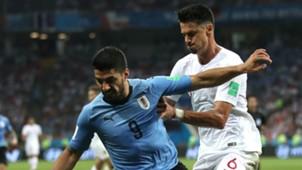 Luis Suarez Jose Fonte Uruguay Portugal World Cup