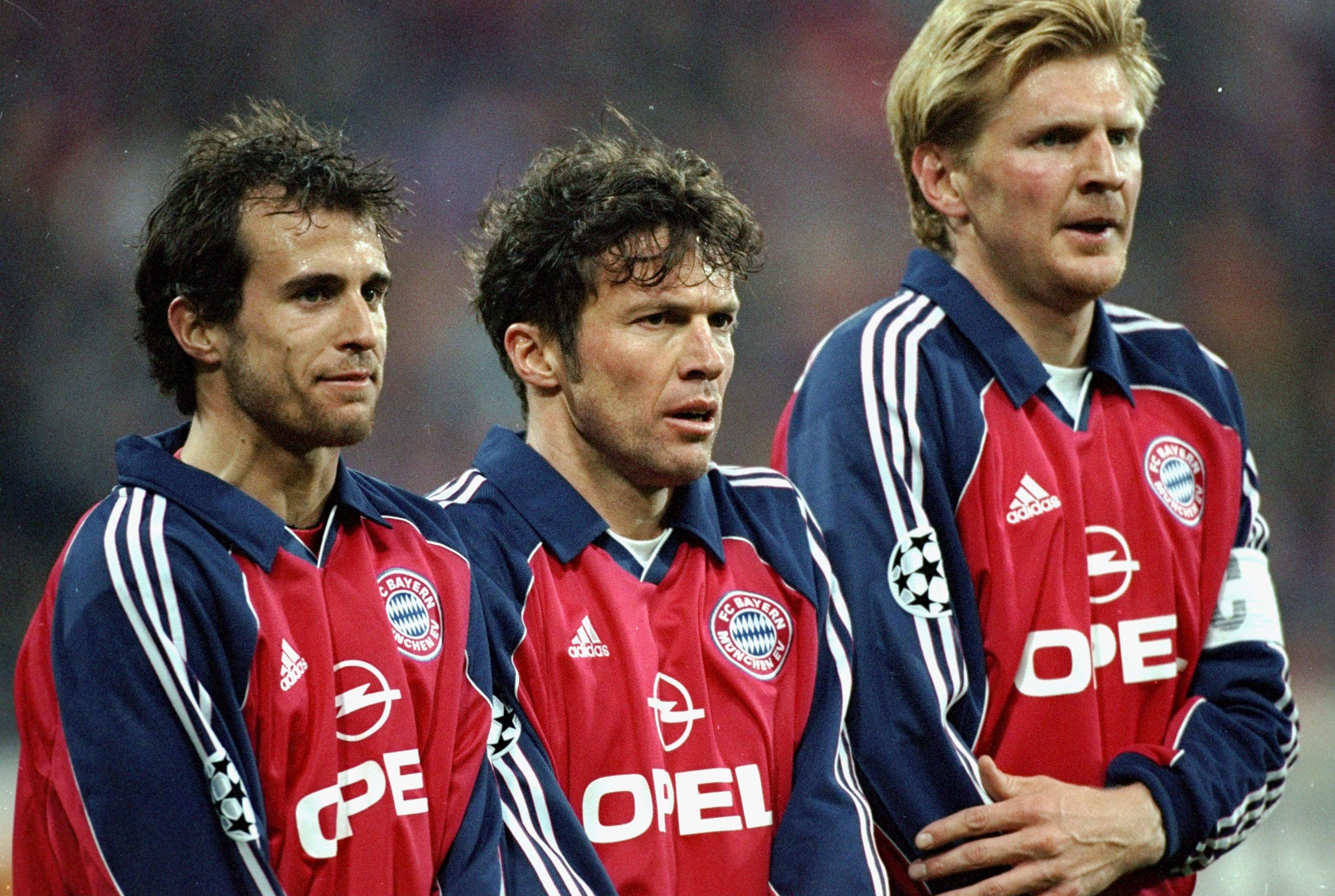 Lothar Matthaus, Mehmet Scholl and Steffan Effenberg