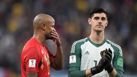 Vincent Kompany Thibaut Courtois Belgium France World Cup 2018