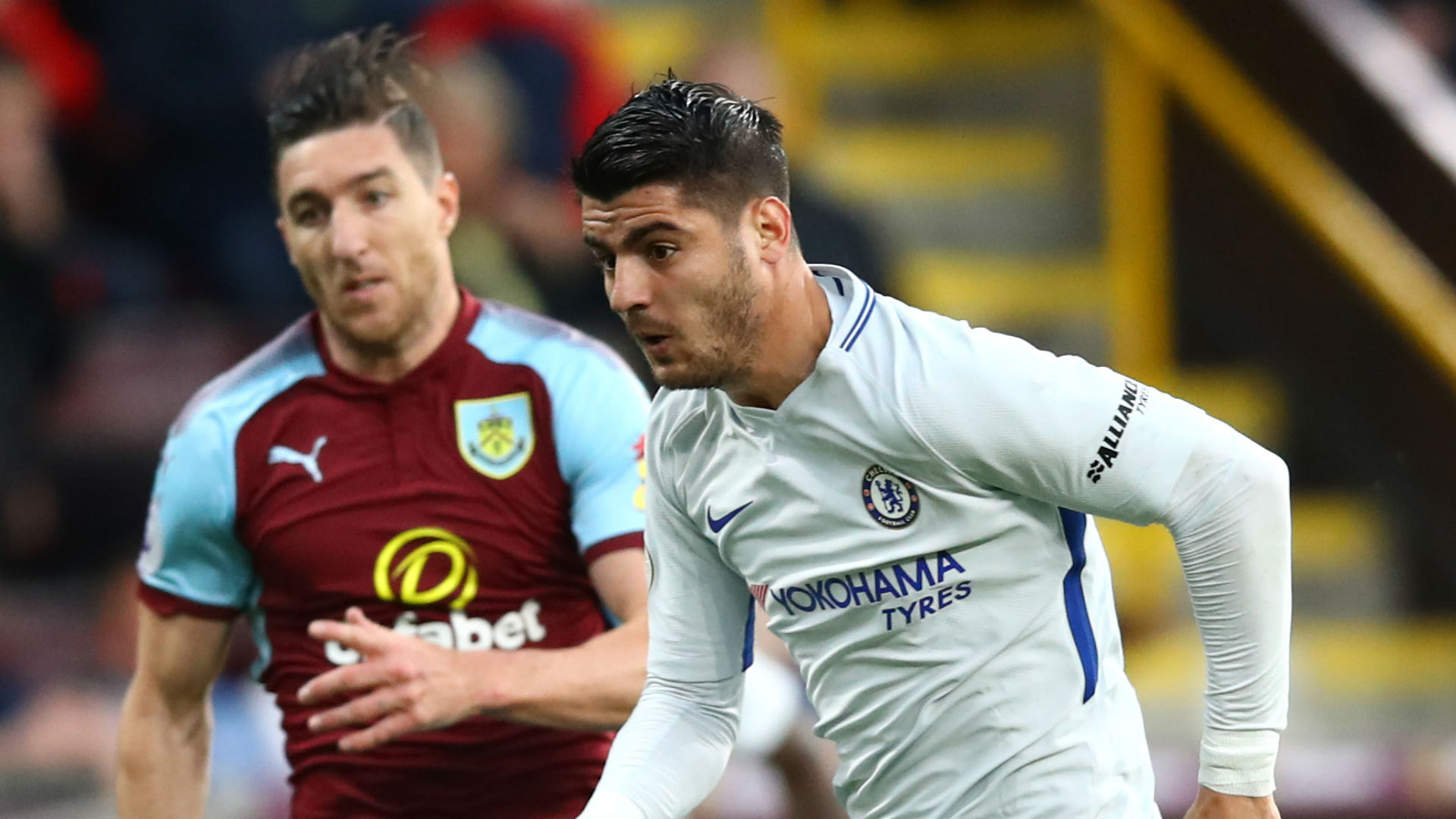 Alvaro Morata Chelsea Burnley Premier League