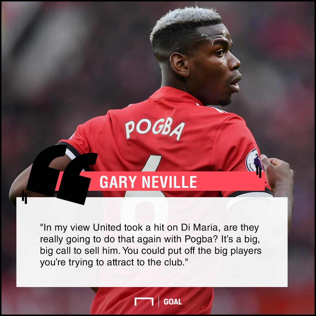 Paul Pogba sale put players off Gary Neville