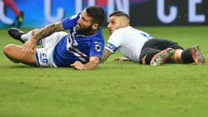Icardi Tonelli Sampdoria Inter Serie A