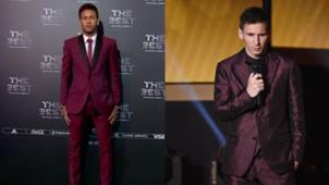 Neymar Messi looks