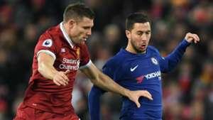 James Milner, Liverpool, Eden Hazard, Chelsea