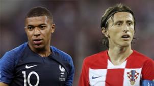 GFX Kylian Mbappe Luka Modric World Cup 2018