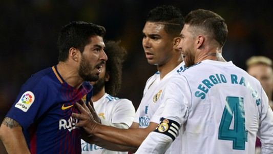 Luis Suarez Sergio Ramos Barcelona Real Madrid 2017-18