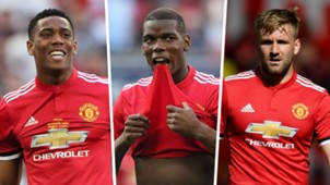 Anthony Martial, Paul Pogba, Luke Shaw