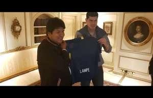 Carlos Lampe Evo Morales