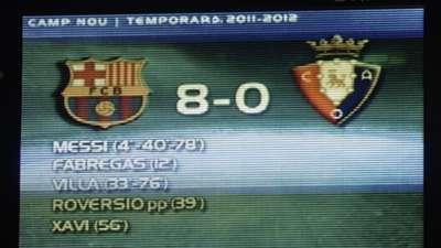 Barcelona Osasuna 2011-2012