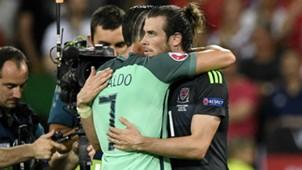Cristiano Ronaldo Gareth Bale Portugal Wales UEFA Euro 2016