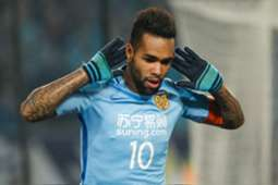 Alex Teixeira #10 of Jiangsu Suning reacts during the AFC Champions League 2017 Group H match between Jiangsu Suning and Adelaide United