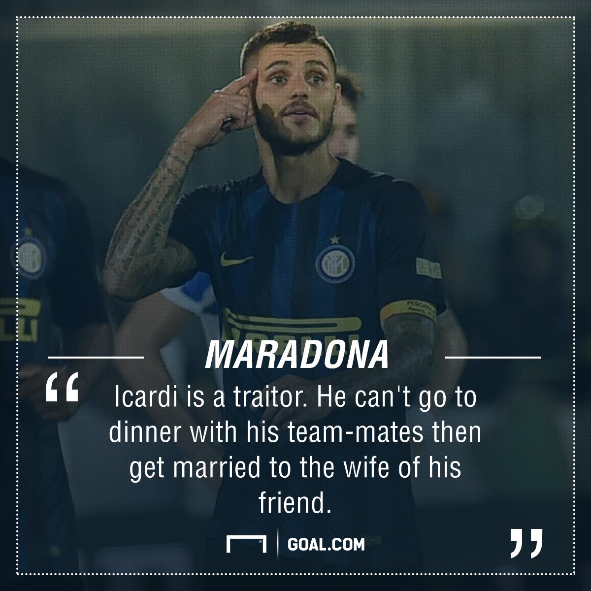 Mauro Icardi Diego Maradona Quote PS