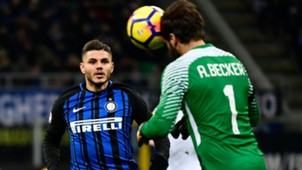 Mauro Icardi Alisson Becker Inter Roma