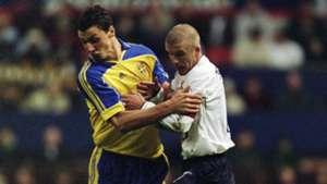 Schweden England Ibrahimovic Beckham 11112001