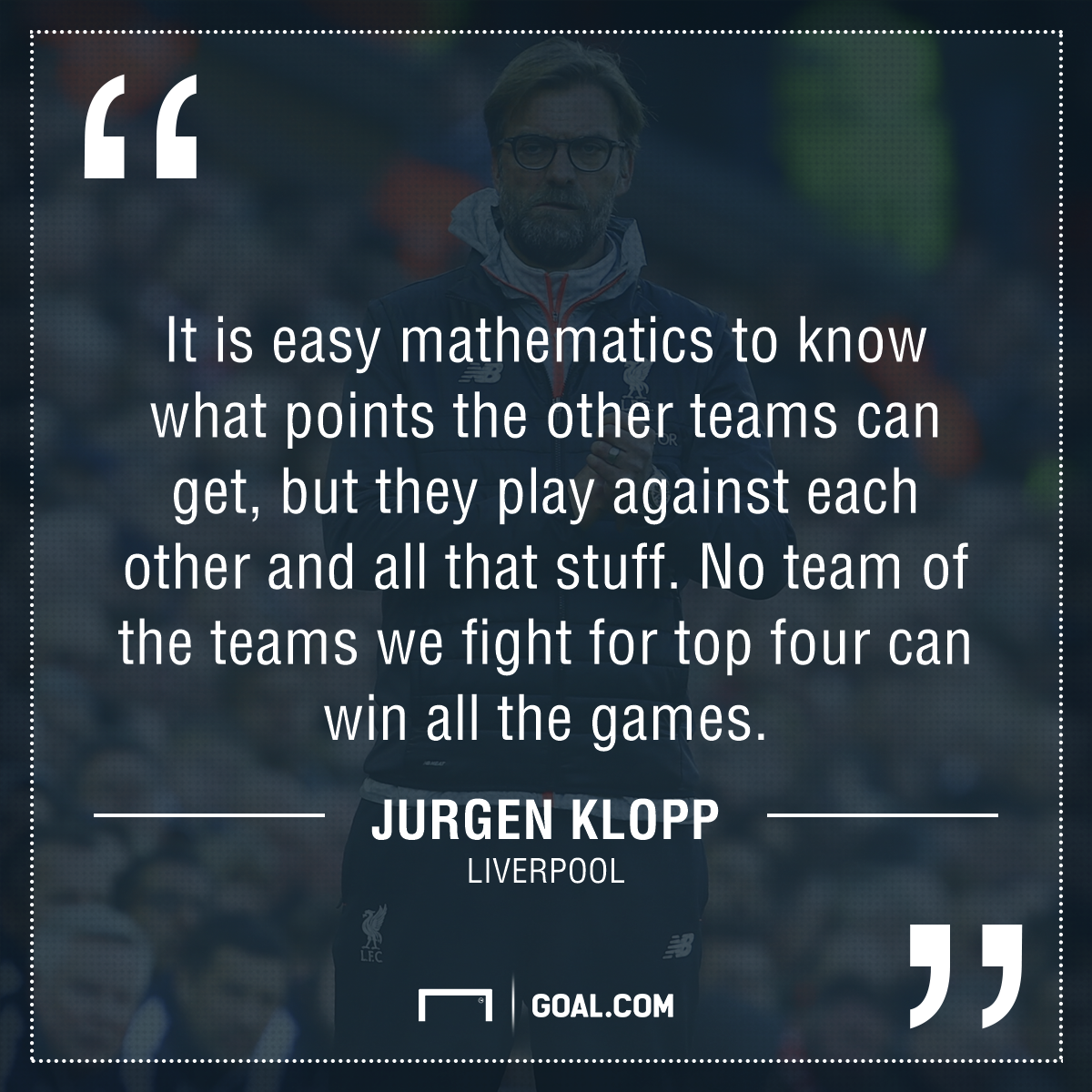GFX Jurgen Klopp quote
