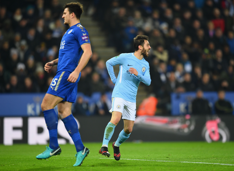 Bernardo Silva - Leicester City v Manchester City