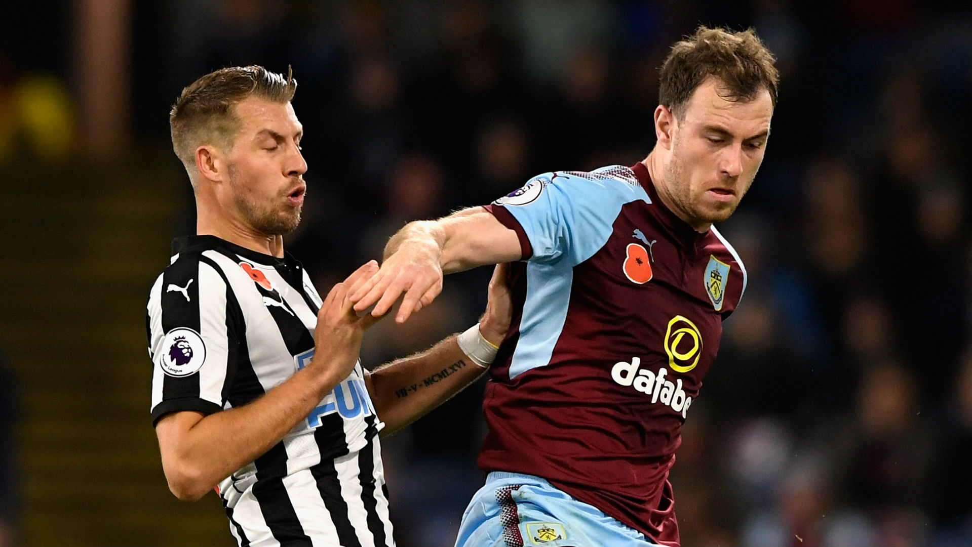 Ashley Barnes, Burnley, Florian Lejeune, Newcastle