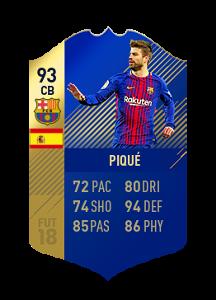 FIFA 18 La Liga Team of the Season Pique