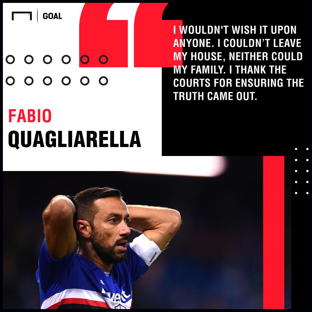 Fabio Quagliarella stalker verdict PS