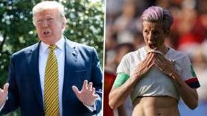 Donald Trump Megan Rapinoe GFX