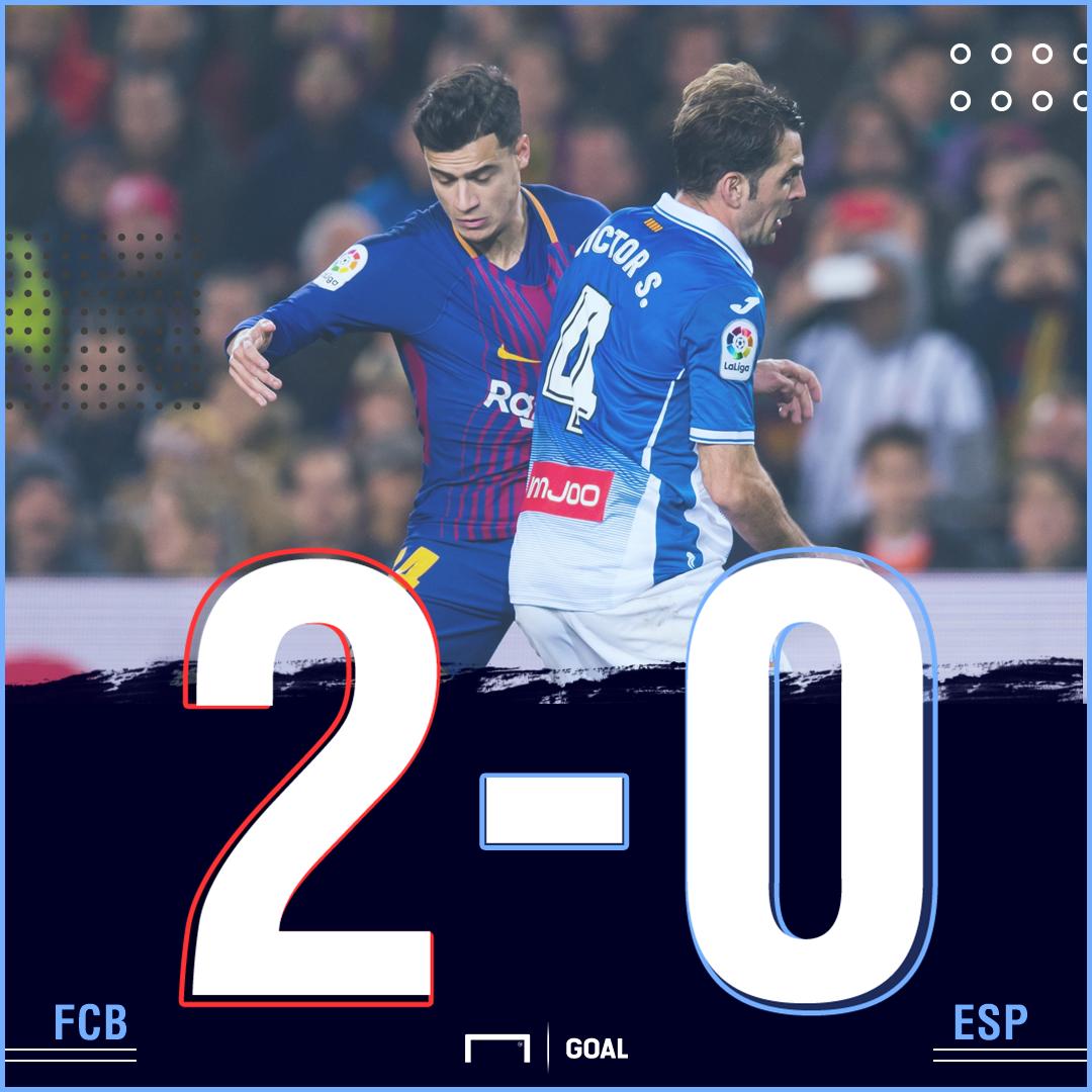 Barcelona Espanyol score