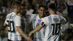Giovani Lo Celso Cristian Pavon Lionel Messi Sergio Aguero Argentina Haiti 2018