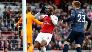 Alexandre Lacazette Arsenal vs Man Utd 2018-19