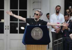 Megan Rapinoe USA speech New York