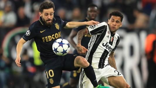 Bernardo Silva Dani Alves Juventus Monaco Champions League