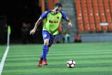 PKNS' Matias Jadue playing against Felda United 21/1/2017