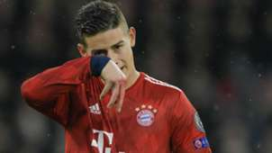 James Rodríguez Bayern Munich - Liverpool Champions League 2019