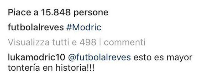 Modric Instagram reakció