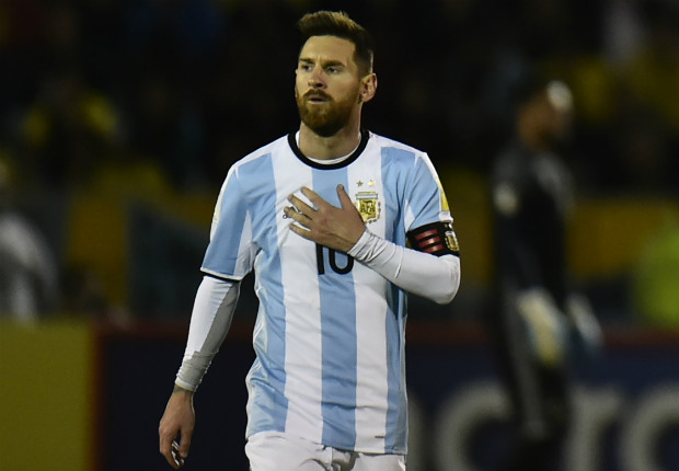 Messi festejo gol Ecuador Argentina Eliminatorias 10102017