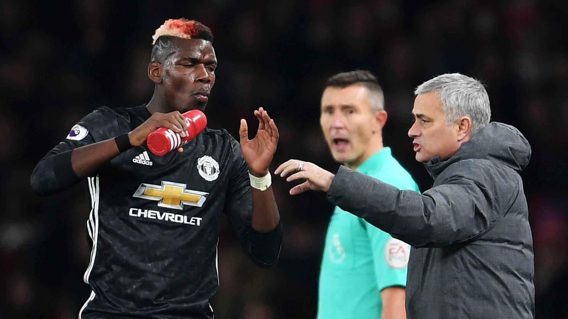 Paul Pogba Jose Mourinho Manchester United 02122017