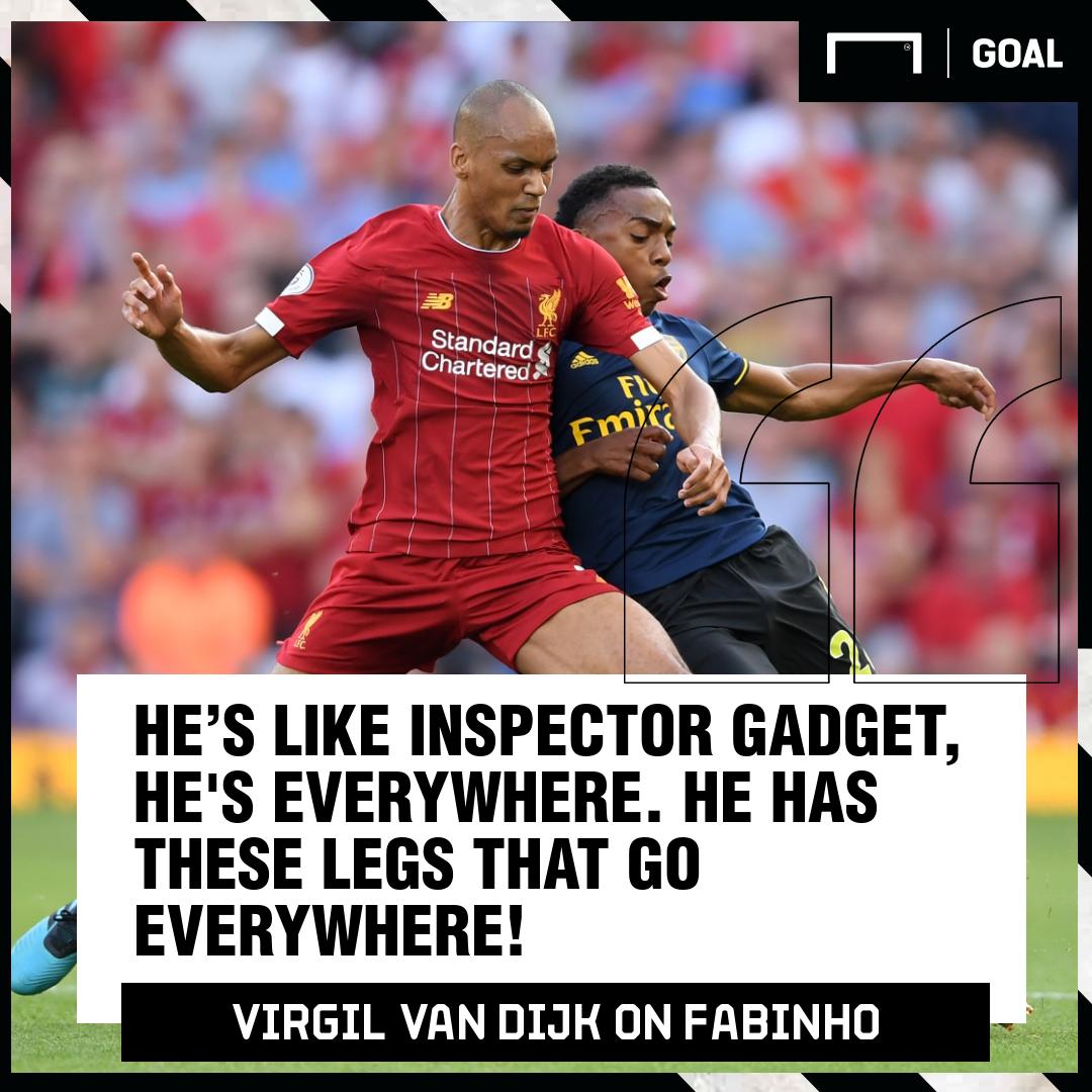 Virgil van Dijk Fabinho 2019