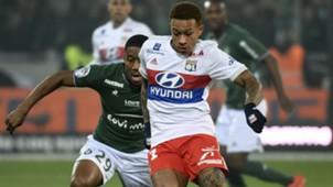 Memphis Depay Ronael-Pierre Gabriel Saint-Etienne Lyon Ligue 1 05112017