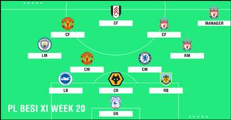 Best XI : ทีมยอดเยี่ยมพรีเมียร์ลีก 2018-2019 สัปดาห์ที่ 20