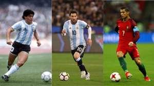 Maradona Messi Cristiano Ronaldo 28072017