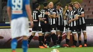 Udinese celebrating Napoli Serie A
