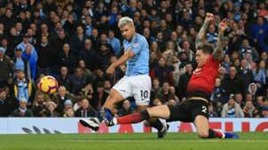 Sergio Aguero Manchester City vs Manchester United Premier League 2018-19